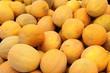 Honigmelonen auf dem Wochenmarkt