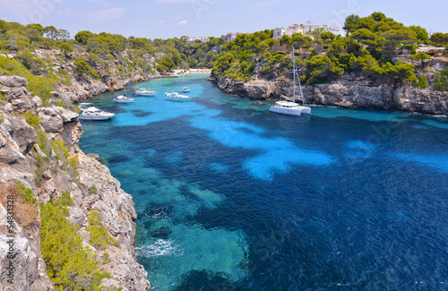 The Beautiful Beach of Cala Pi in Mallorca, Spain