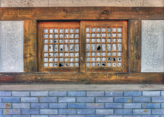 Old wooden window style in Asia
