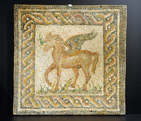Pegaso, Pegasus, roman mosaic