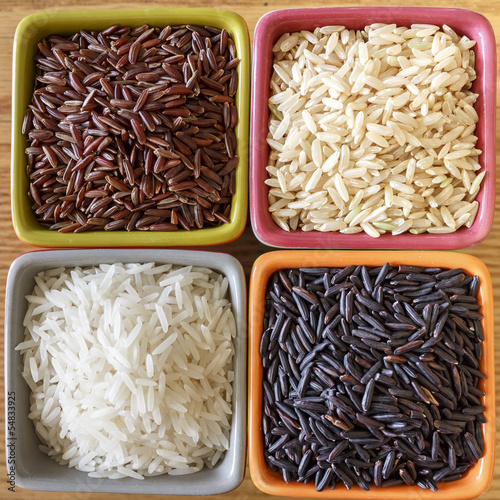 4 bols de riz - rices food asia