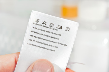 Laundry care symbols.
