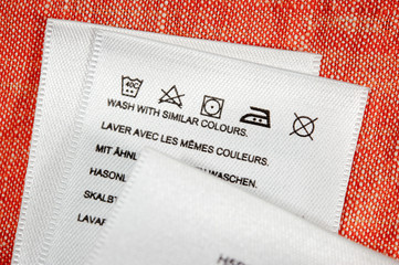 Washing instructions.