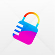 Vector lock modern colorful design