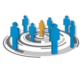 Netzwerk, Organisation, Coaching, Gruppe, Team, Teamwork