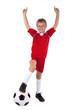 jubelnder Fußballfan