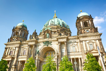 The Berlin Cathedral on a sunny summer day