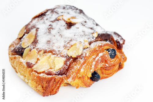 Chocolate and almond croissant