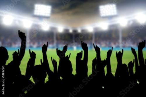 Plexiglas Stadion Fußballfans im Stadion