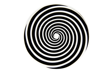 Black and white hypnotic whirlpool shape