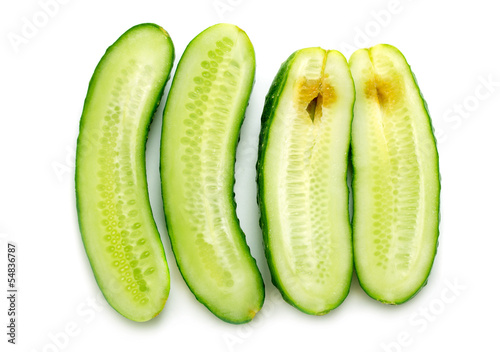 half good and rotten cucumber