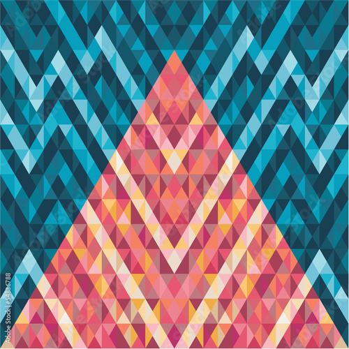 Abstract Background - Geometric Vector Pattern