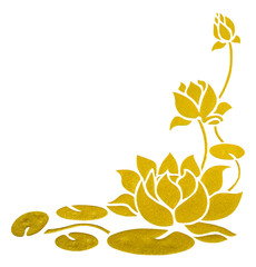 painting of lotus with clipping path