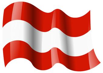 österreich fahne wehend austria flag waving