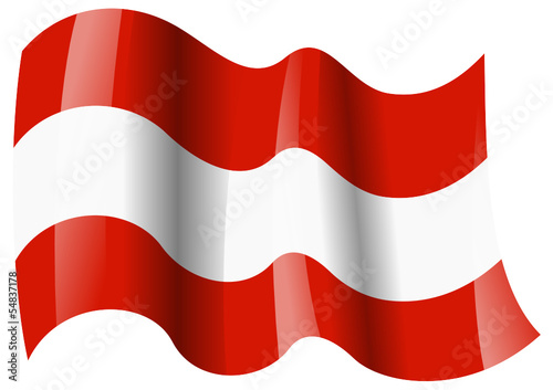 sterreich fahne wehend austria flag waving von moonrun lizenzfreier vektor 54837178 auf. Black Bedroom Furniture Sets. Home Design Ideas