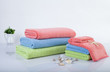 stack of multicolored towels