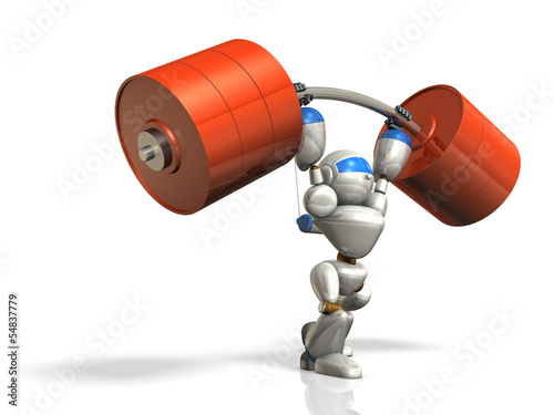 Humanoid robot is possesses superhuman strength.