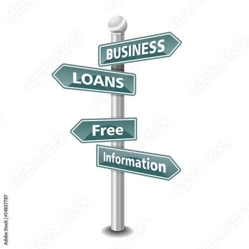 BUSINESS LOANS icon as signpost - NEW TOP TREND