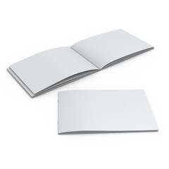 blank catalog in A4 horizontal format on white backgroud
