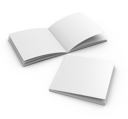 blank square catalog template on white