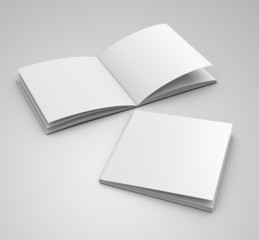 blank catalog  template in square format on  grey backgroud
