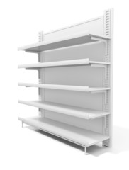 Shelves. 3d image