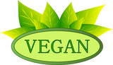Vegan Symbol Oval
