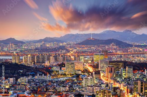 Poster Downtown Seoul, South Korea