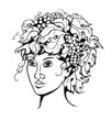 vine_girl_black_white