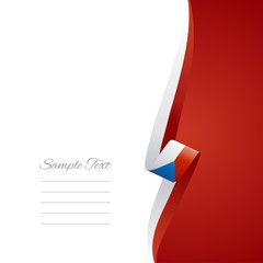 Czech right side brochure cover vector