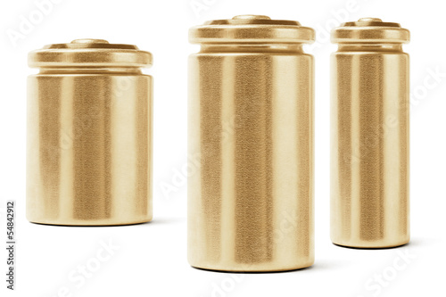 Three Gold Color Batteries