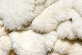Fluffy sheep skin background