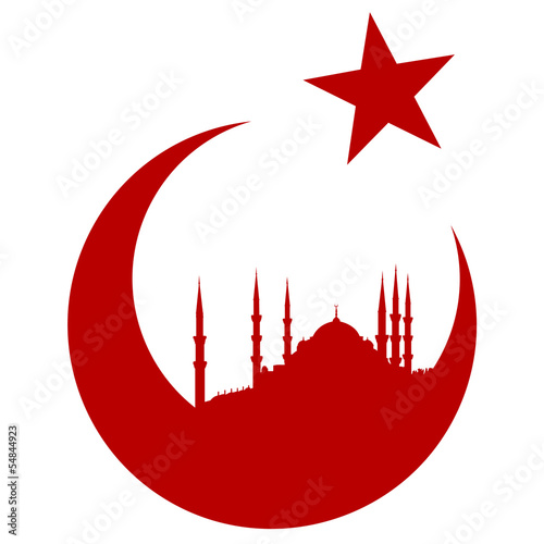Turkey symbol with Blue mosque