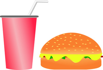Burger & Softdrink