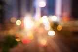 blured Night lights of the Hong Kong