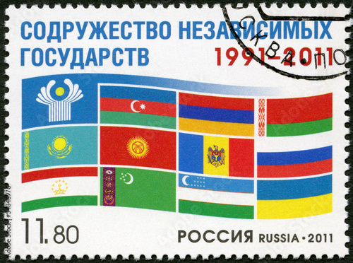 RUSSIA - 2011: Commonwealth of Independent States 1991-2011