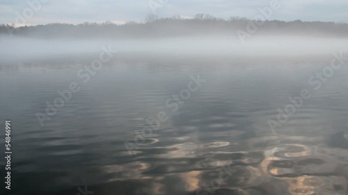 dense fog on the water (FULL HD)
