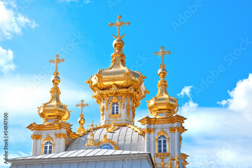Church in Petergof (Petrodvorets) Saint-Petersburg, Russia