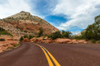 Scenic road through Zion national park.utah