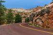 Scenic road through Zion national park.utah