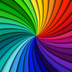 Colorful rainbow swirl