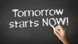 Tomorrow starts Now Chalk Illustration