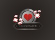heart with poker chips, poster, banner, backdrop, backdrop