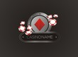 diamond with poker chips, poster, banner, backdrop, backdrop