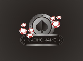 spade with poker chips, poster, banner, backdrop, backdrop