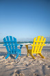 Beach wooden chairs for vacations and summer getaways in Tulum,