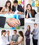 Collage of business partners