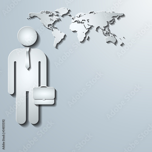 Business world vector background
