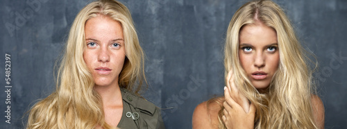 Makeup artist, Makeup Before and after the retouch