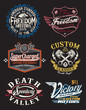 Vintage Motorcycle Themed Badge Vectors - 54853331